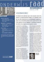 Download nieuwsbrief (pdf, 1.3MB) - Onderwijsraad