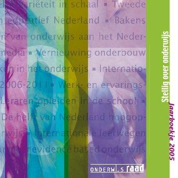 2005Stellig over onderwijs Jaarboekje 2005 - Onderwijsraad