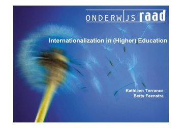 Internationalization in (Higher) Education - Onderwijsraad