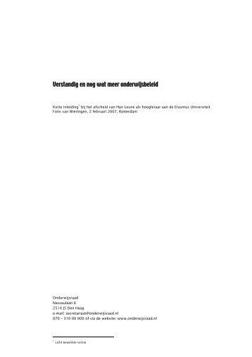 download bestand (pdf, 52kB) - Onderwijsraad