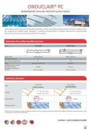 ONDUCLAIR® PC - Onduline