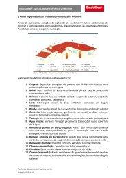 Manual de aplicação de Subtelha Onduline