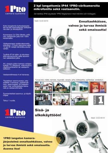 1PRO langaton kamera CCD-401X esite - One-Pro