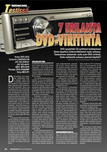 Autosound-lehti testasi auto DVD-soittimet (PDF) - One-Pro