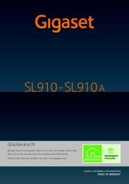 Gigaset SL910/910A - Onedirect