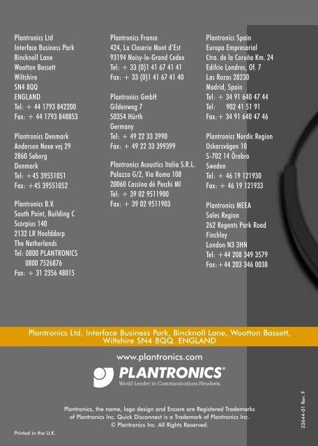 plantronics 640 manual