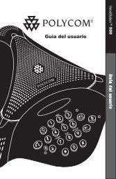 Guía del usuario - Polycom