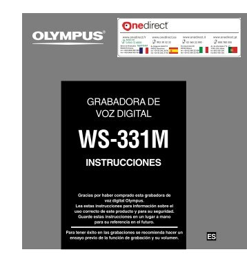 Manual de uso - Onedirect