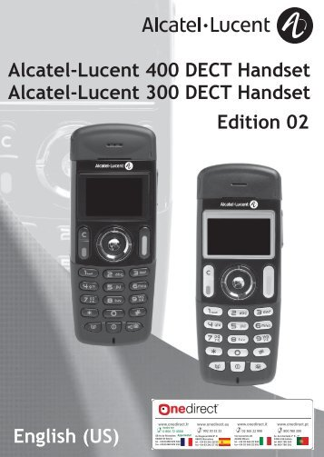 Alcatel-Lucent DECT Phones 300 & 400 User Guide - Onedirect