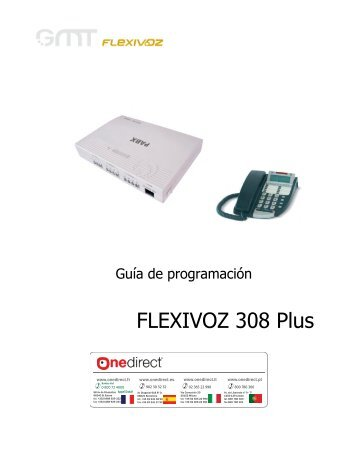 guia programacion flexivoz 308 plus - Onedirect