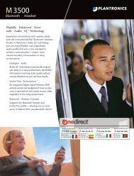 M3500 Plantronics kit mains libres bluetooth - Onedirect
