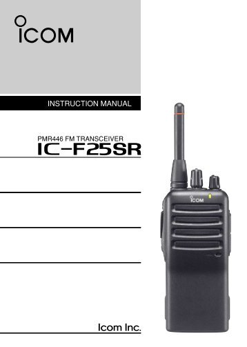 IC-F25SR Manual - Icom UK