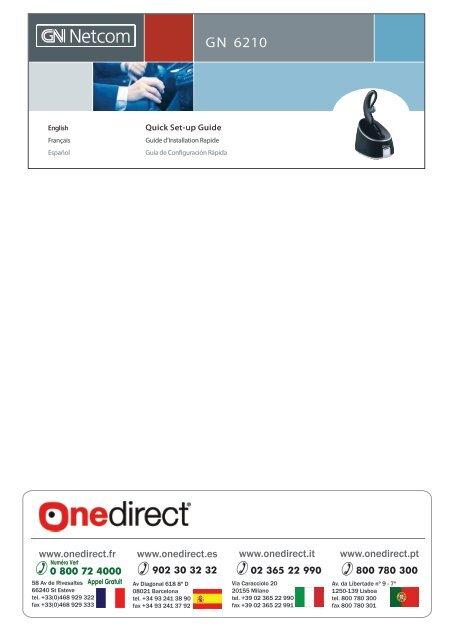 Gn 6210 Gn Netcom Casque Sans Fil Multi Man Onedirect