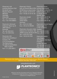 Plantronics Encore Casques professionnels - Onedirect