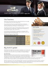 FAST FACTS AND FIGURES August 2012 Our ... - Etihad Airways