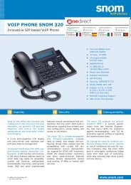 VoIP Phone snom 320 - Onedirect