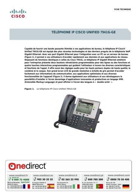 Tãlãphone Ip Cisco Unified 7941g Ge Onedirect