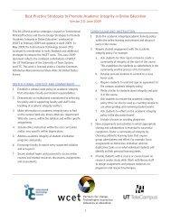 Best Practice strategies to Promote academic Integrity in online ...