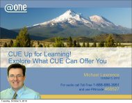 PDF of slides from Presentation - One