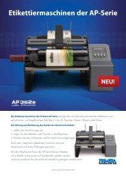 Etikettiermaschinen der AP-Serie