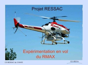 Expérimentation en vol du RMAX - Présentation , 2005 (pdf) - Onera