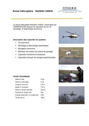 Drone hélicoptère ReSSAC-VARIO - Onera
