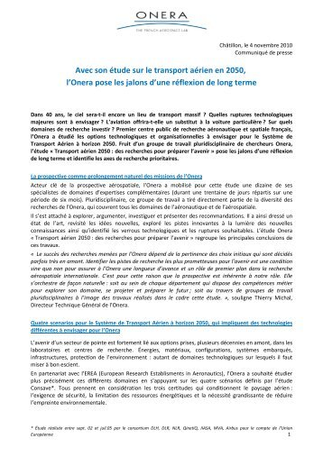 Prospective - Transport aérien 2050 - Onera