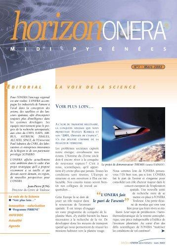 N° 1 - Mars 2002 - Onera