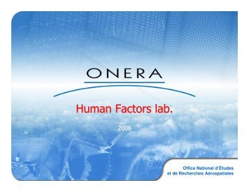 Human Factors lab. - Onera