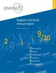 Rapport d'activité Annual report - Onerba