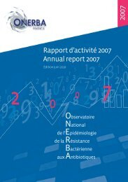 Rapport dÌactivit… 2007 Annual report 2007 - Onerba
