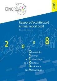 Rapport d'activité 2008 Annual report 2008 - Onerba