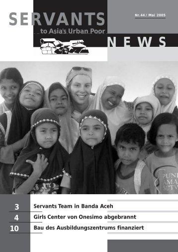 Newsletter Mai 2005 - Onesimo