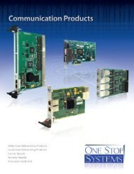 OSS Communication catalog - One Stop Systems, Inc.