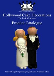 Hollywood Cake Decorations Product Catalogue