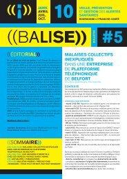 Balise, n°5, janvier 2010 - ARS Franche-Comté