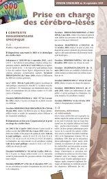 Prise en charge des cérébro-lèsés - ARS Franche-Comté