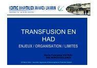 TRANSFUSION EN HAD - ARS Franche-Comté