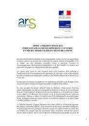 note cadre appel à projet 2012 - ARS Franche-Comté