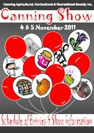 4 & 5 November 2011 4 & 5 November 2011 - The Canning ...