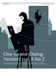 One-to-one-Dialog: Vernetzt von A bis Z