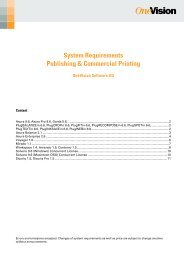 System Requirements Publishing & Commercial Printing
