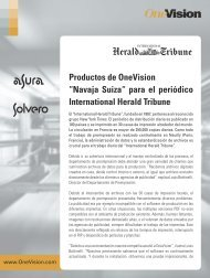 International Herald Tribune, Francia - OneVision Software