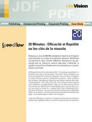 20 Minutes : Efficacité et Rapidité ou les clés de la ... - OneVision