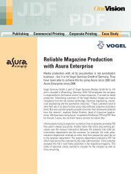 Reliable Magazine Production with Asura Enterprise - OneVision