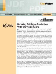 Oriflame Cosmetics, Sweden - OneVision Software
