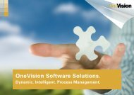 Download the brochure - OneVision Software