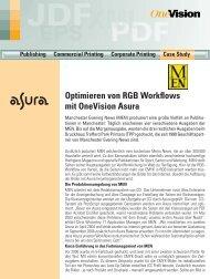 Optimieren von RGB Workflows mit OneVision Asura