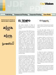 Publishing Commercial Printing Corporate Printing ... - OneVision
