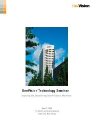 OneVision Technology Seminar - OneVision Software